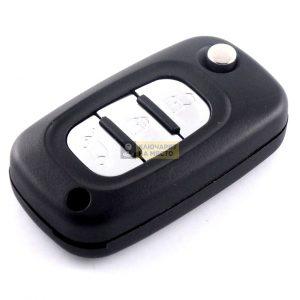 Кутийка за сгъваем ключ за Renault с 3 бутона