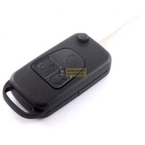 Кутийка за сгъваем ключ за Mercedes с 3 бутона