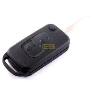 Кутийка за сгъваем ключ за Mercedes с 2 бутона