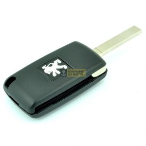 Ключ за Peugeot 3 бутона Сгъваем 433 Mhz