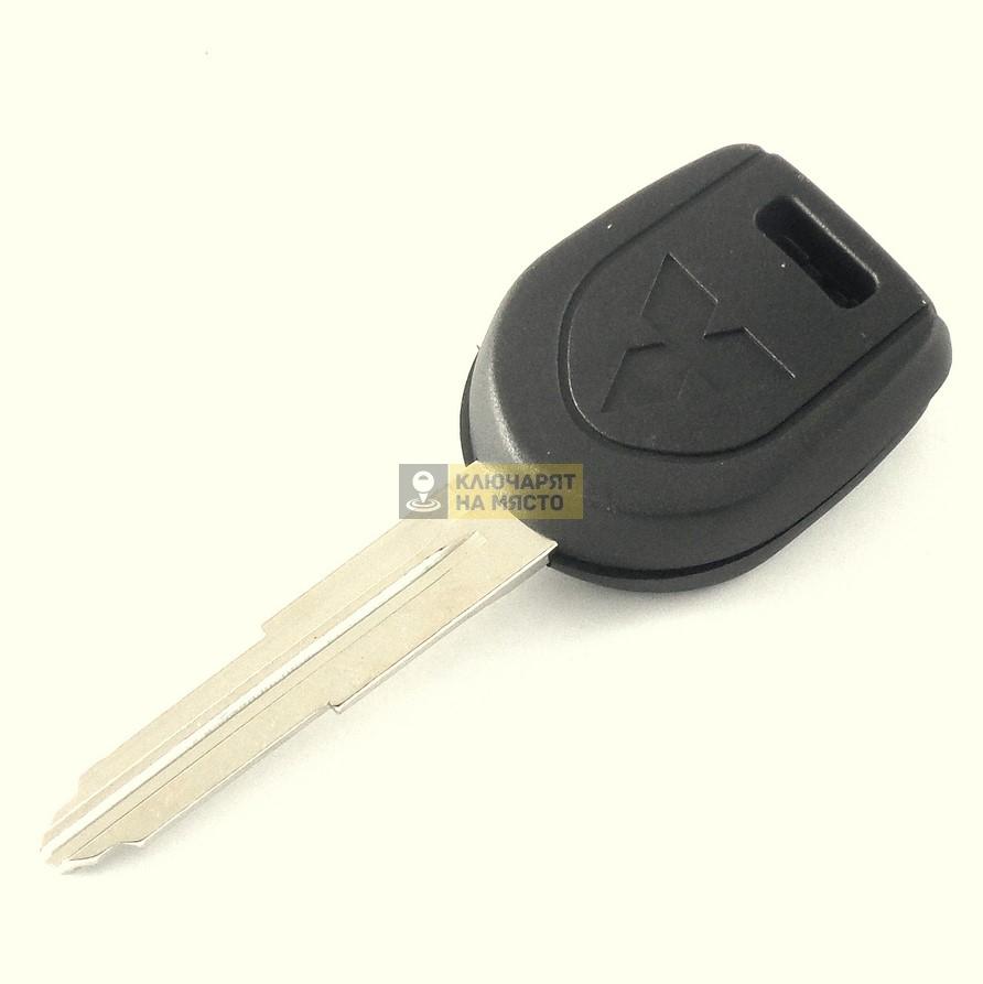Ключ за Mitsubishi с място за чип с ляво перо