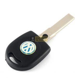 Ключ за VW с място за транспондер профил HU66 объл