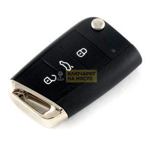 Ключ за VW Golf 7 ID48 434 Mhz 3 бутона