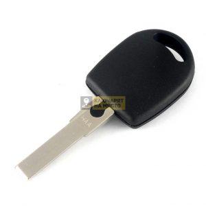 Ключ за Skoda с място за транспондер профил HU66 объл