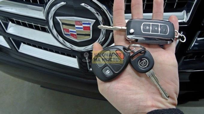 Ключ за Cadillac Escalade Изработка с копиране на чип