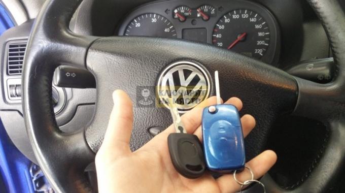 Ключ с чип за VW Golf 4